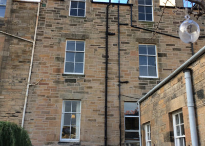 Lime pointing and stone repair